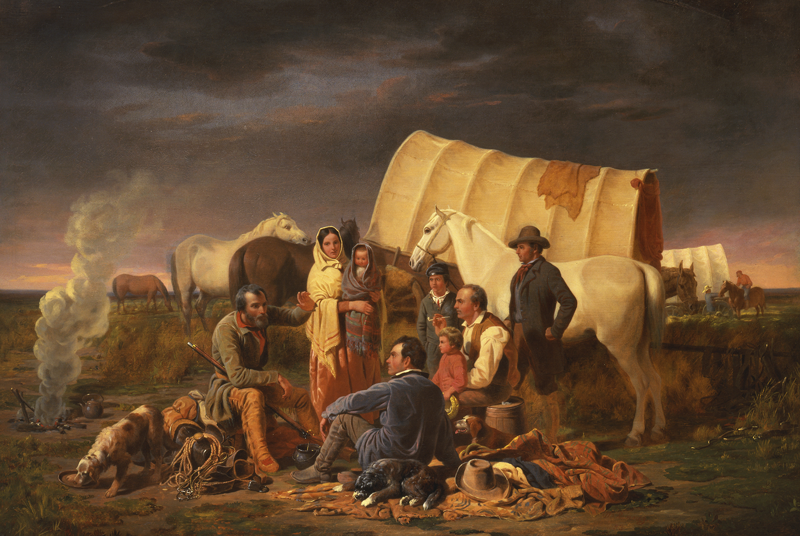 William Ranney (American, 1813-1857), Advice on the Prairie, 1853, oil on canvas 45.625 x 61.325 inches (frame), Buffalo Bill Center of the West, Cody, Wyoming, USA, gift of Mrs. J. Maxwell Moran, 10.91