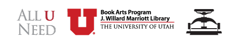 Book Arts Program at University of Utah logo
