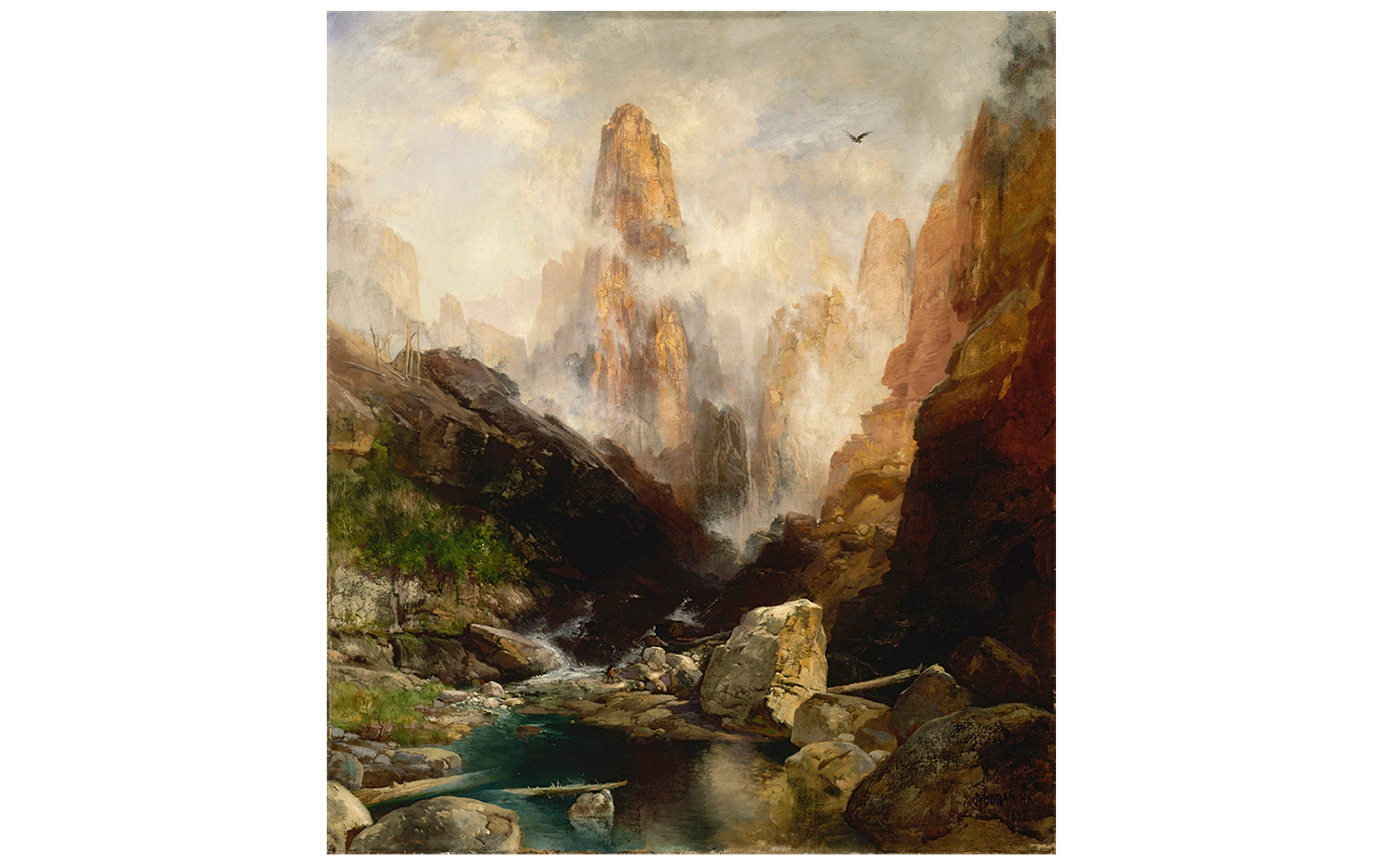 Thomas Moran's Mist in Kanab Canyon, Utah (1892)