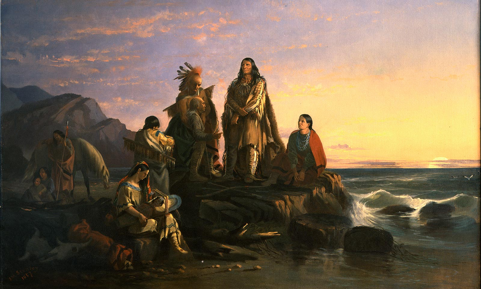 John Mix Stanley (American, 1814–1872), The Last of Their Race, 1857, oil on canvas, 52.125 x 68.5 inches (frame), Buffalo Bill Center of the West, Cody, Wyoming, USA, Museum purchase, 5.75
