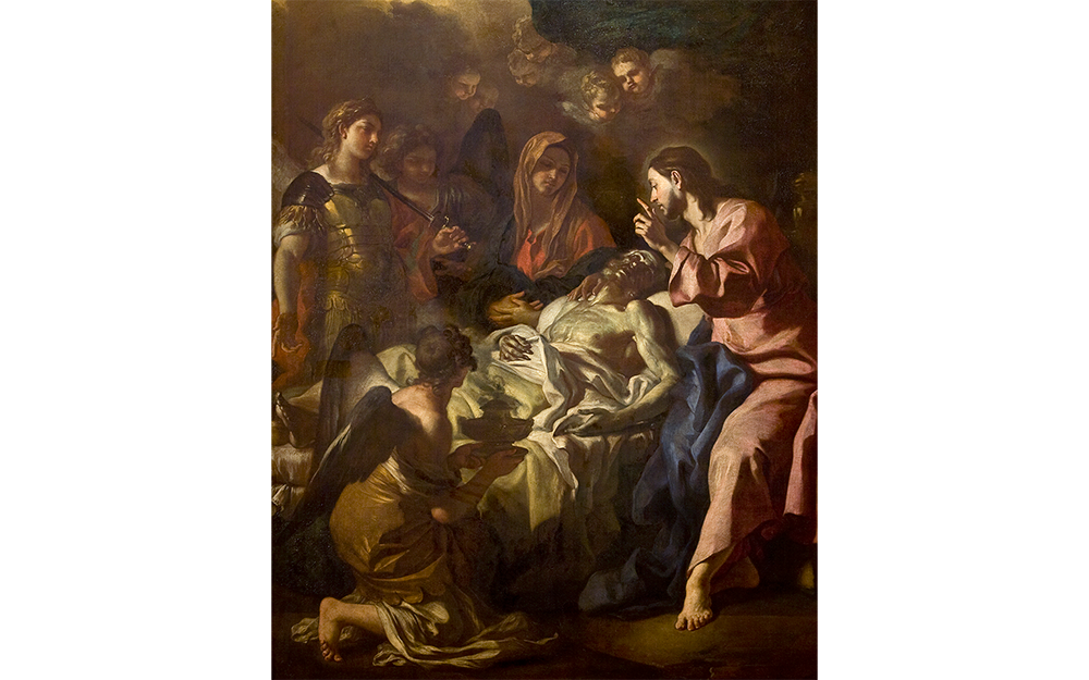 Francesco Solimena, The Death of Saint Joseph, circa 1698-1700, oil on canvas. UMFA1990.048.001