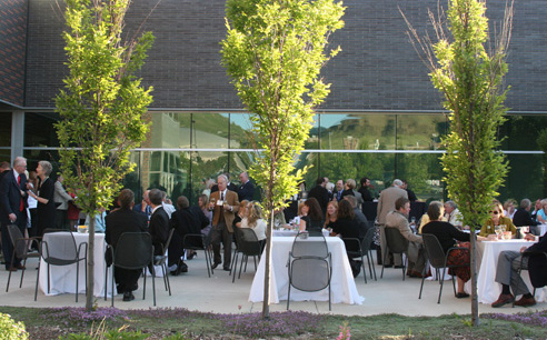 Private event on Museum patio