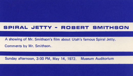 Smithson's talk - promotional postcard