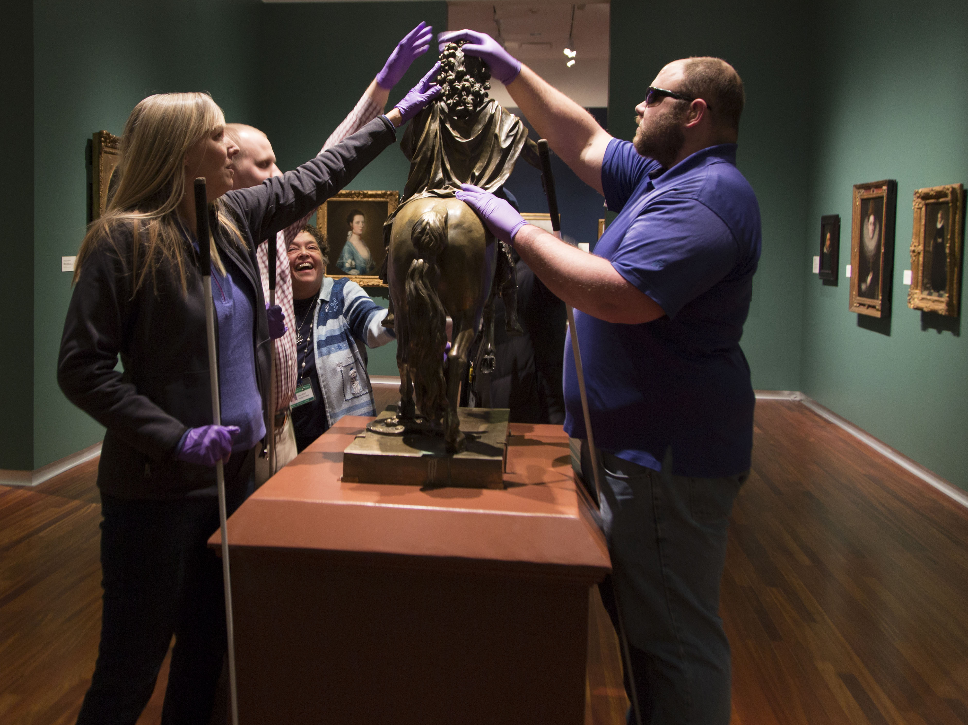 Guests enjoy a touch tour at the UMFA