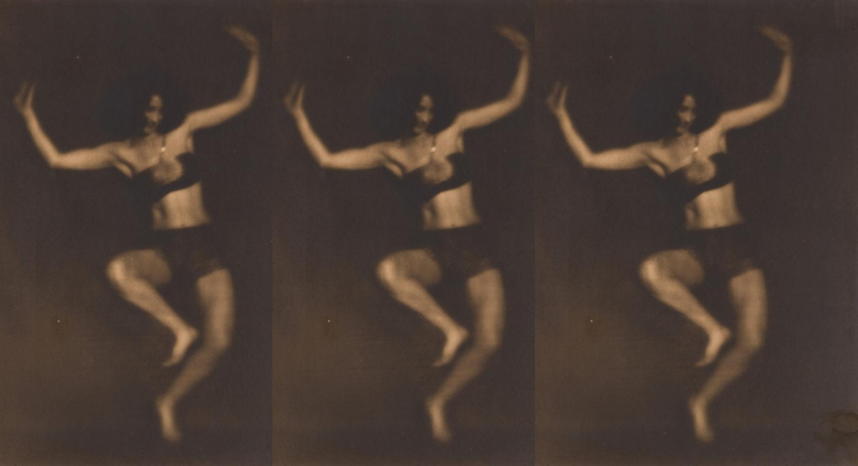Ben Magid Rabinovitch, (American, 1884-1964), Dance Grotesque, 1922, gelatin silver print, 13 13/16 x 10 7/8 in., gift of the Dr. James E. and Debra Pearl Photograph Collection, UMFA2001.22.60