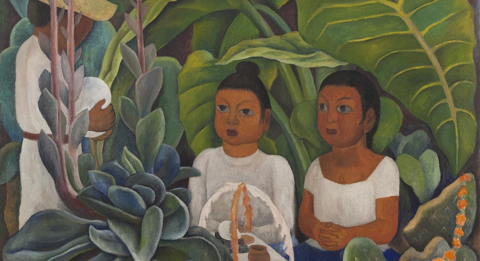 Diego Rivera (Mexican, 1886-1957), La ofrenda, 1931, oil on canvas, 48 3⁄4 x 60 1⁄2 in., Art Bridges, image ©2017 Christie's Images Limited. ©2019 Banco de México Diego Rivera Frida Kahlo Museums Trust, Mexico, D.F. / Artists Rights Society (ARS), New York, on loan from Art Bridges