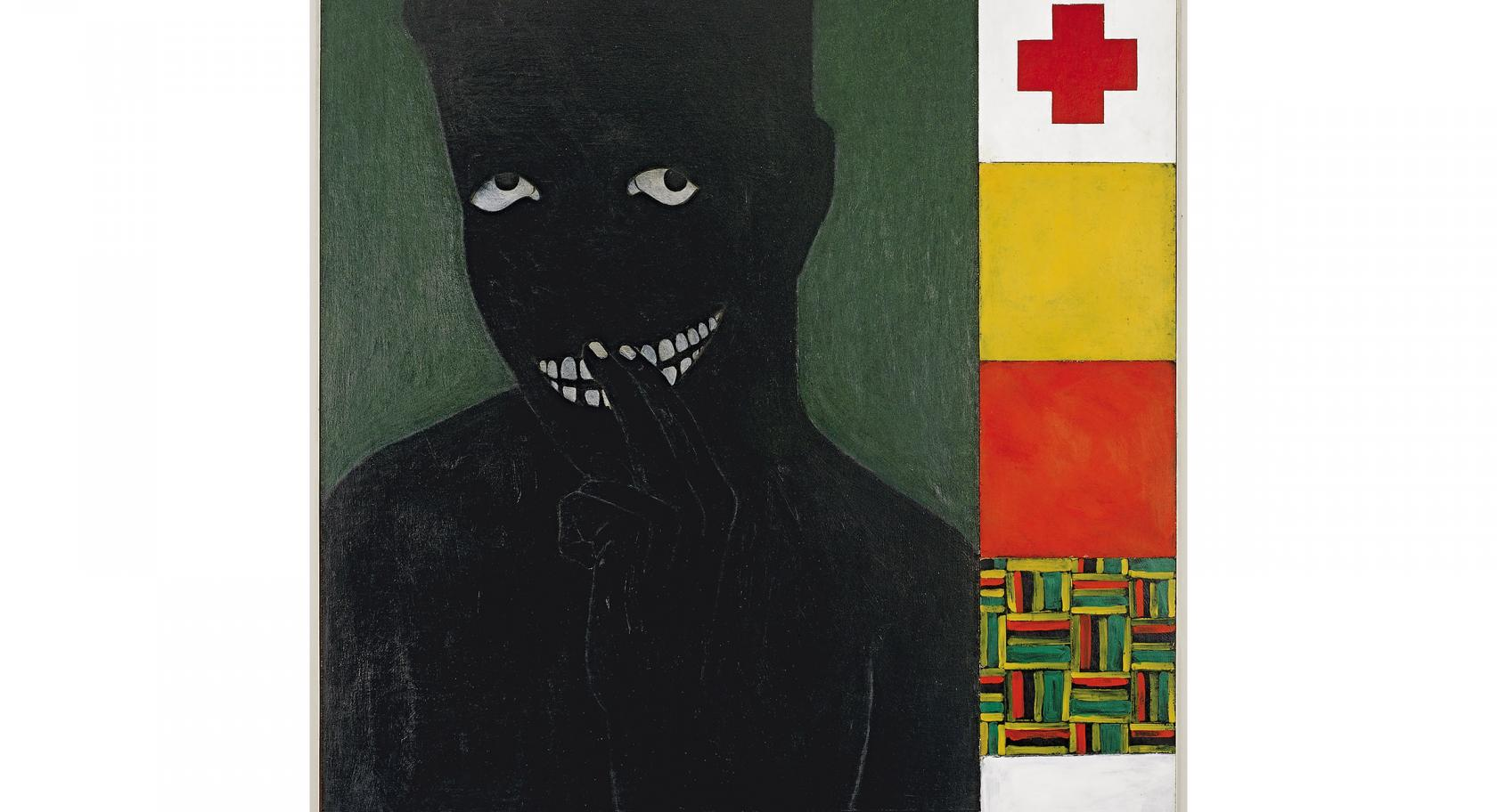 Kerry James Marshall, Silence is Golden, 1986