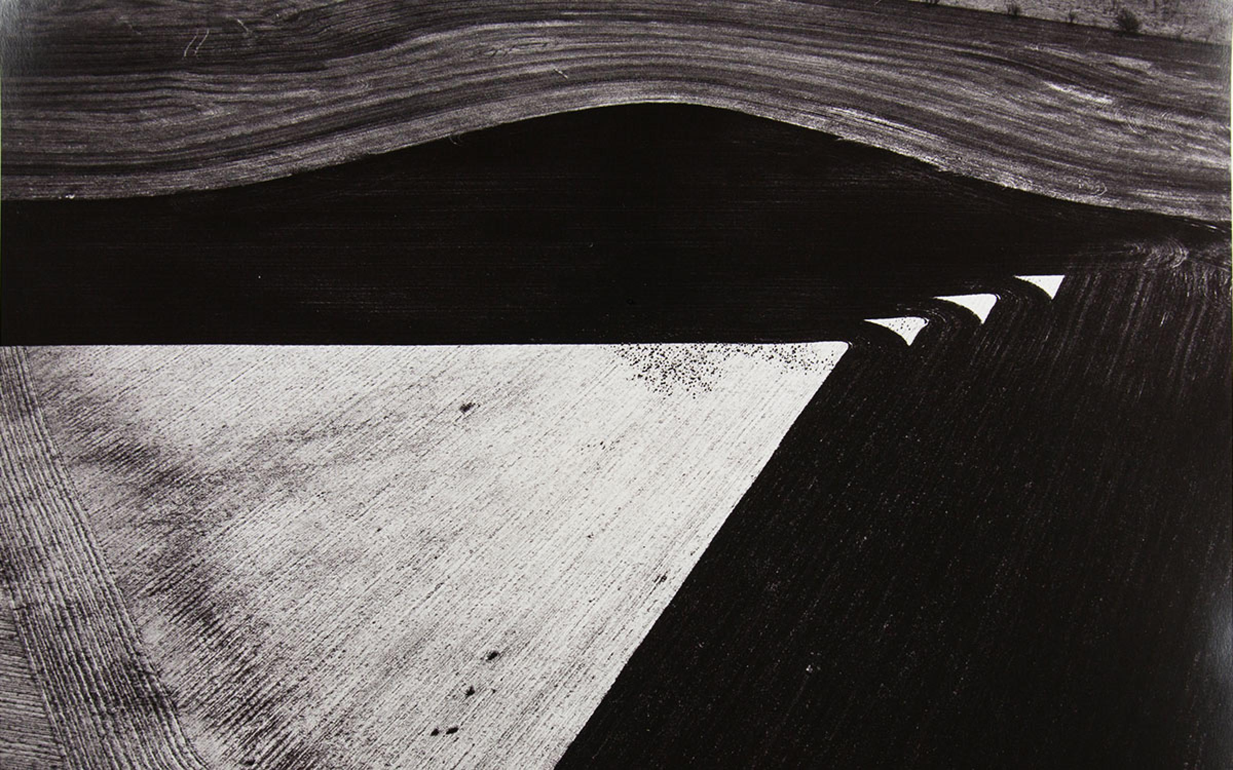 Geometrics, Lone Wolf, Oklahoma, 1987, Gelatin silver print, 14 3/4 x 18 3/4 inches, gift of George H. Speciale in memory of Tamie P. Speciale, UMFA2015.9.1