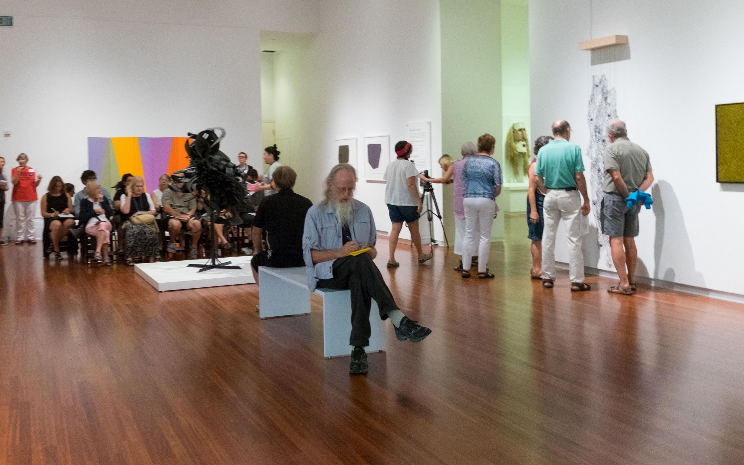 UMFA guests in the Modern and Contemporary Gallery