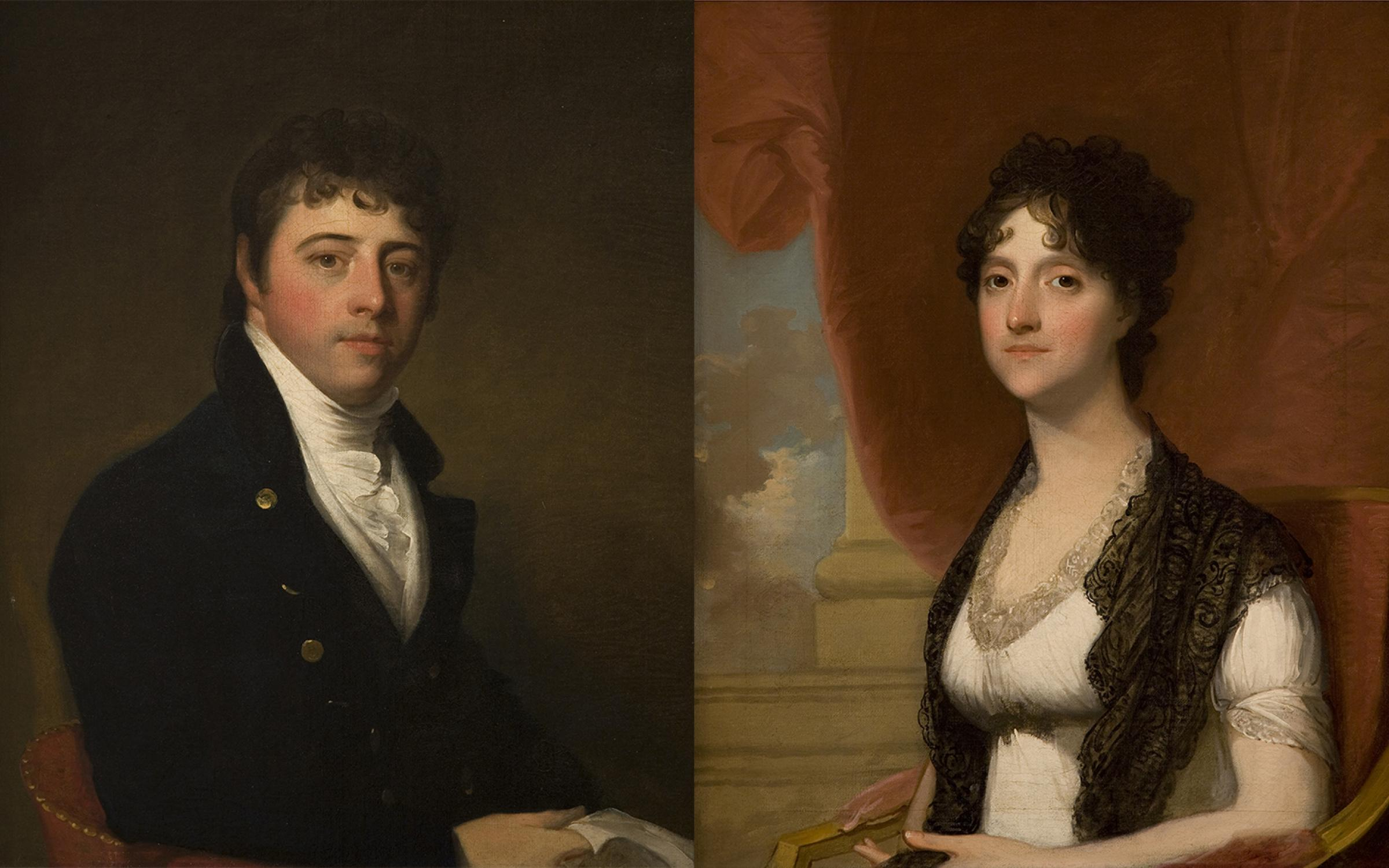 Gilbert Stuart (American, 1755-1828), Mr. and Mrs. Simon Walker, ca. 1802, oil on canvas, purchased with funds from the Marriner S. Eccles Foundation, UMFA1982.007.001-22