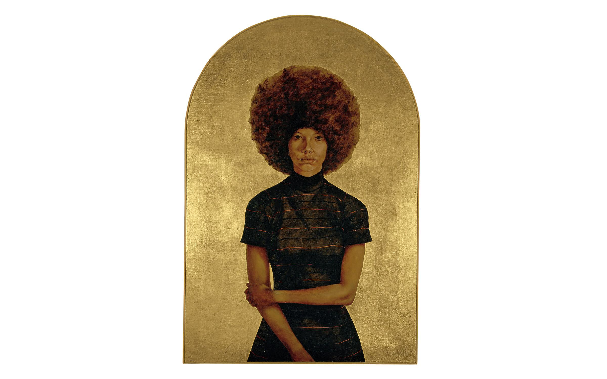 Hendricks, L. Barkley, Lawdy Mama,1969, oil and gold leaf on canvas. Published by The Studio Museum in Harlem, gift of Stuart Liebman, in memory of Joseph B. Liebman, 1983.25. © Estate of Barkley L. Hendricks.
