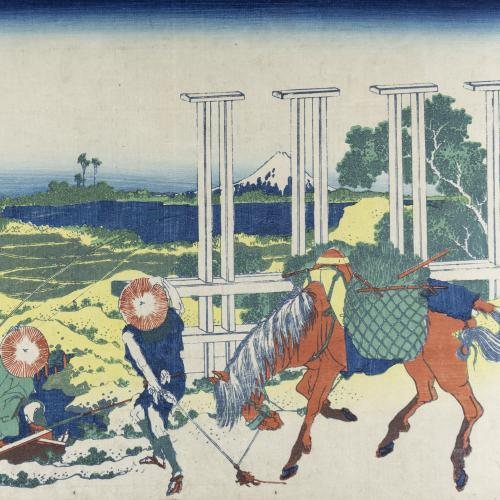Katsushika Hokusai, Thirty-Six Views of Mt. Fuji: Senju in Musashi Province (c. 1831)