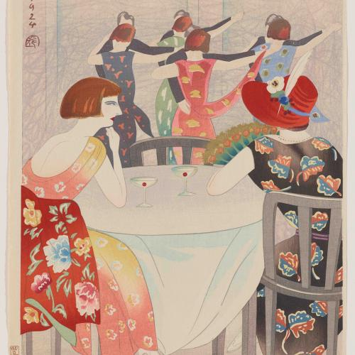 Yamamura Koka (Toyonari), Dancing at the New Carlton Cafe in Shanghai (1924)