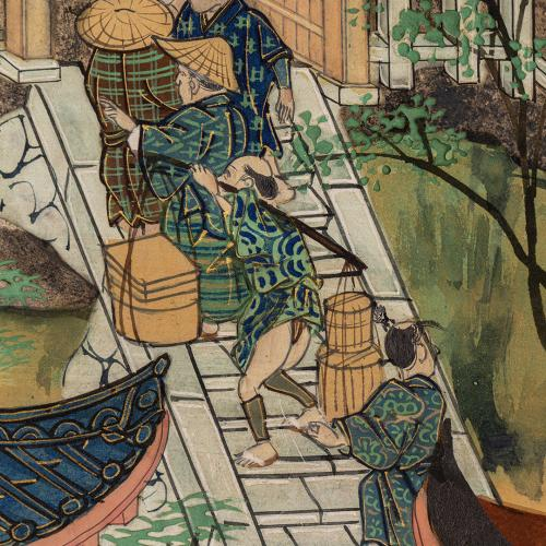 Detail from  The Kiyomizu Temple folded screen
