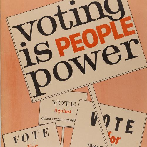 Voting is People Power, 1962, Accn 544, League of Women Voters of Utah records