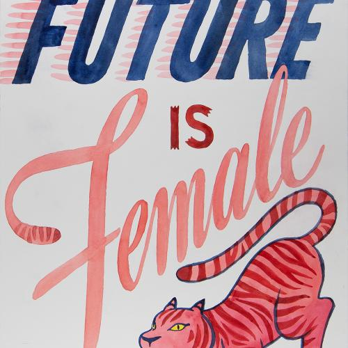 The Future is Female, 2017, Accn 3075 Protest, Marches, and Rallies Collection
