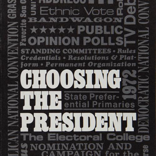 Choosing the President, 1967-68, Accn 544, League of Women Voters of Utah records