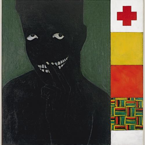 Kerry James Marshall, Silence is Golden,1986, acrylic on panel. The Studio Museum in Harlem; gift of the Artist, 1987.8. © Kerry James Marshall. Courtesy of the artist, Jack Shainman Gallery, New York, and American Federation of Arts. Photo Credit: Marc Bernier.